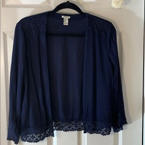 Forever 21 Navy Blue cropped shrug Size: Small